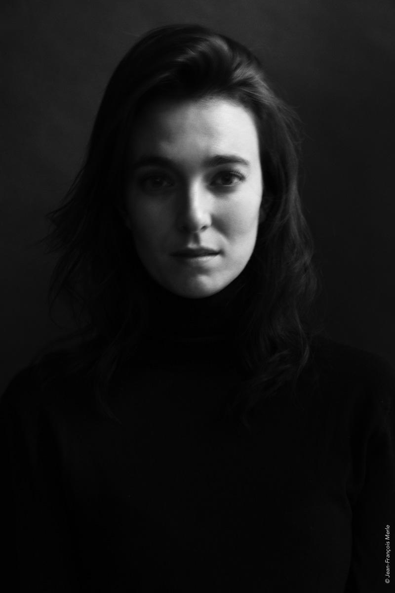 Portraits noir et blanc d'un modèle